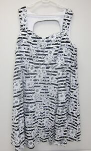 593b2da679985 Image is loading Torrid-Floral-Lattice-Sleeveless-Swing-Dress-Size-26-