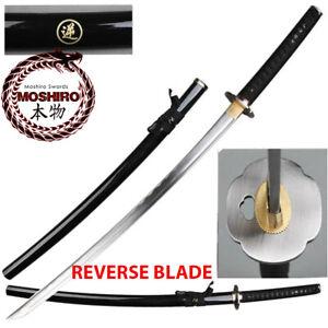 MOSHIRO-Reverse-Blade-Full-Tang-Katana-Samurai-Sword-amp-Scabbard-039