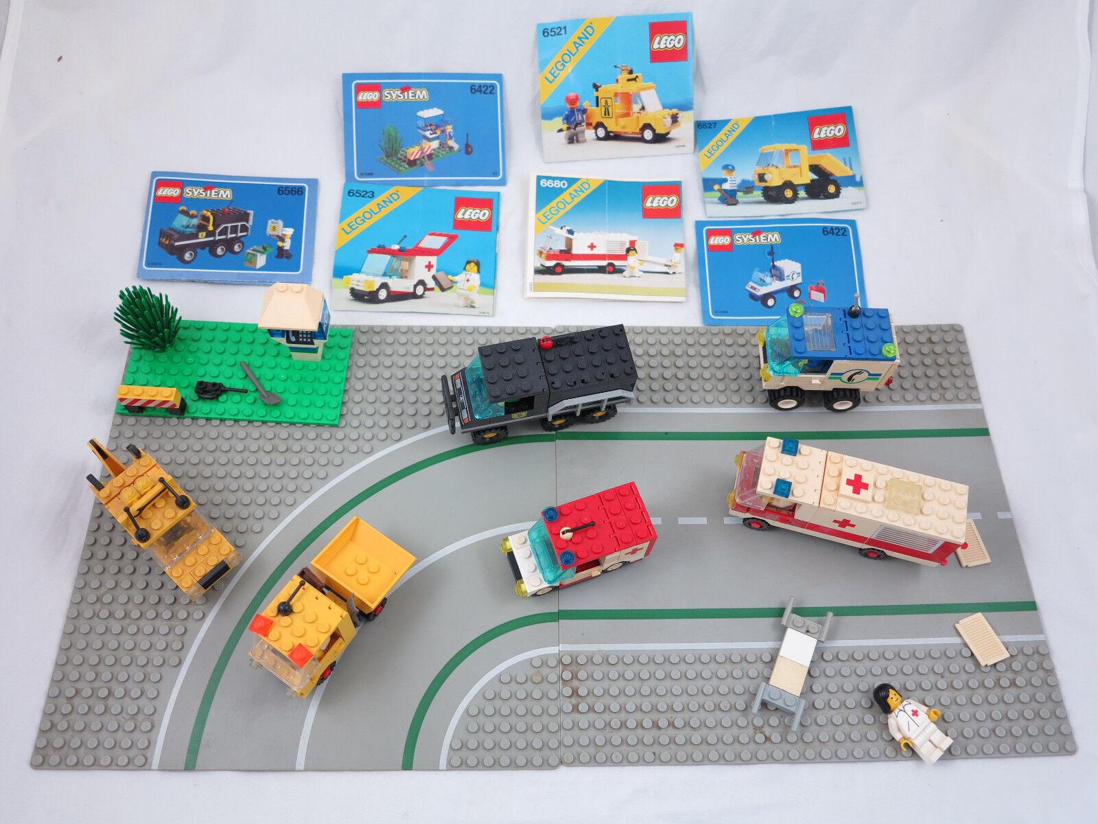 LEGO LEGOLAND SYSTEM 6527 6521 6523 6566 6422 6680 +OBA+Platten Konvolut ( 111)