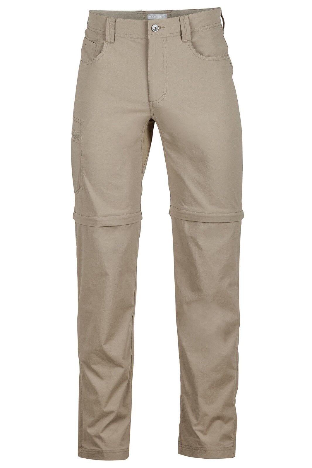 Marmot Transcend Convertible Pant Men, Zip-Off Herrenhose, light khaki