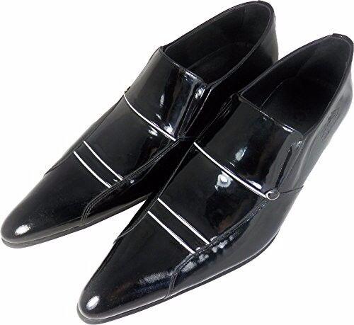 OG Chelsy weiße - Italienischer Designer Business Slipper weiße Chelsy Streifen schwarz 45 b76ef3