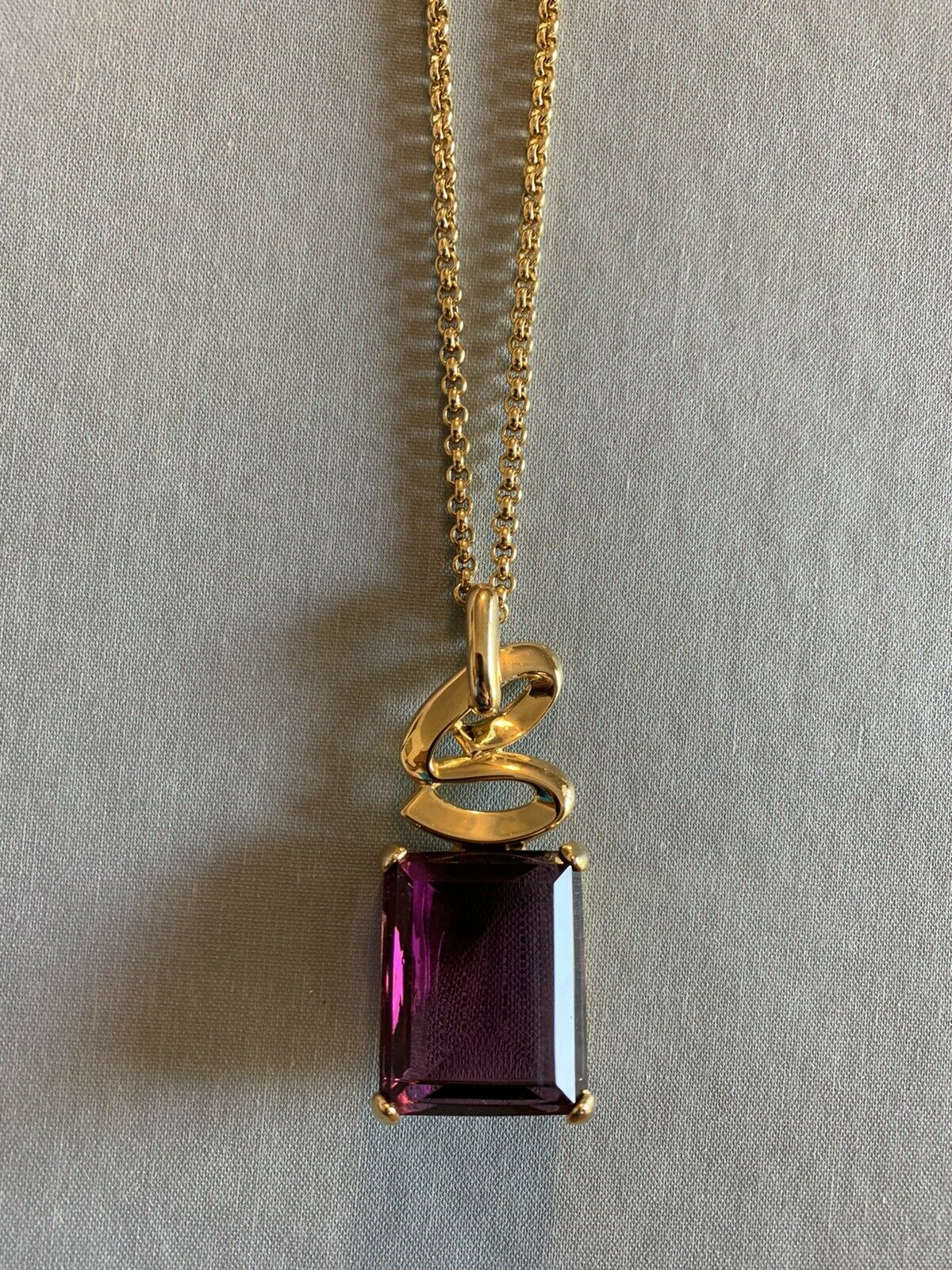 Arnold Scaasi Runway Statement Necklace Amethyst … - image 1