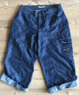 *lee*natural Fit Jeanshose/kurze Hose 7/8 Jeanshose Kurz Denim Gr.m 40-42 *top*