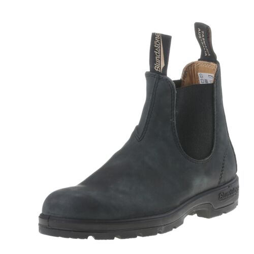 Blundstone 587 Tanned Black Premium Leather Classic Boots Work Australia