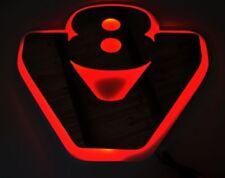 24V LED Plate Silver Matt Grey Neon Sign V8 for Scania R/P/G Trucks RED Lighting