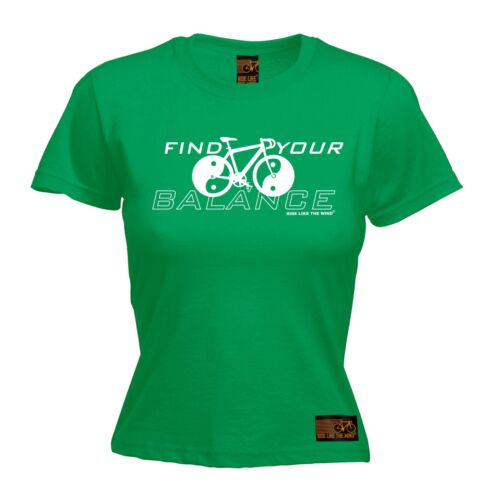 Ladies Cycling Tee Find Your Balance funny Birthday tee T SHIRT T-SHIRT