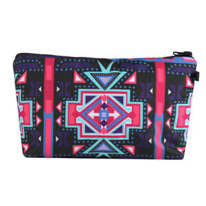 793ce1c97d2c Fashion Cosmetic Bags Makeup Case 3D Printed Women Travel Cosmetic ...