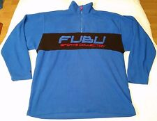 "FuBu Sports Collection 1/4"" zip pullover fleece jacket men sz XL red/blue/black"