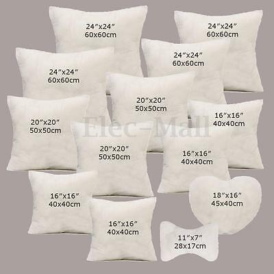 Multi Size Cotton Throw Hold Pillow Inner Pads Inserts
