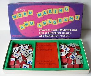 Vintage-Retro-1970-039-s-Word-Making-And-Anagrams-Spear-039-s-Games