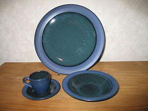 MIKASA *NEW* BLUE BAYAU Assiette + tasse + coupelle Plate + cup + dish W0M3sI7q-09090630-624253896