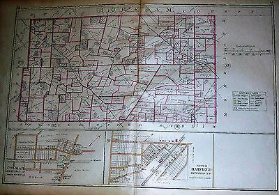 HATFIELD HORSHAM COLMAR COPY PLAT ATLAS MAP PA 1893 MONTGOMERY COUNTY