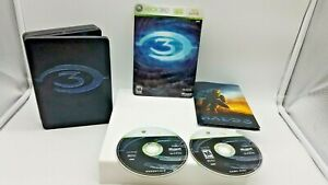 Halo-3-Limited-Edition-Microsoft-Xbox-360-2007-2-Disc-Steelbook-Slipcover-only