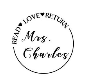 teacher stamp read love return personalized name round self ink