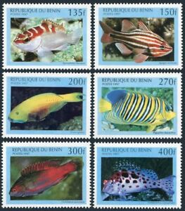 Benin 978-983 Mint Never Hinged Mnh 1997 Marine Fish Topical Stamps Animal Kingdom
