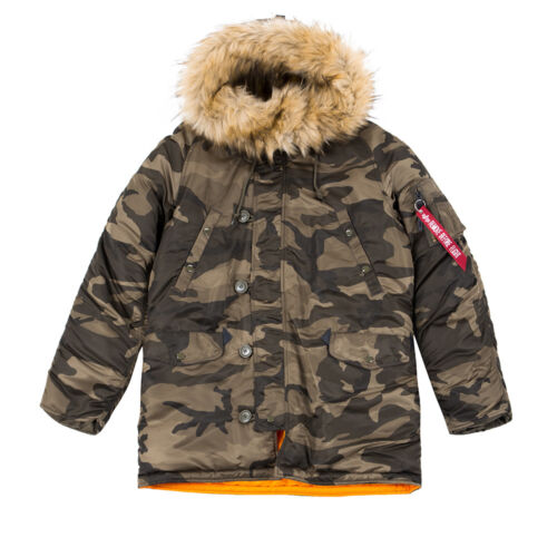 Alpha Industries n3b vf59 Uomo Giacca Invernale Parka Cappotto Giacca inverno 103141