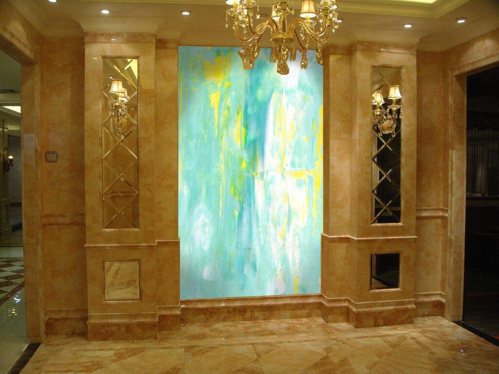 Papel Pintado Mural De Vellón blue yellow 156 Paisaje Fondo De Pansize ES AJ