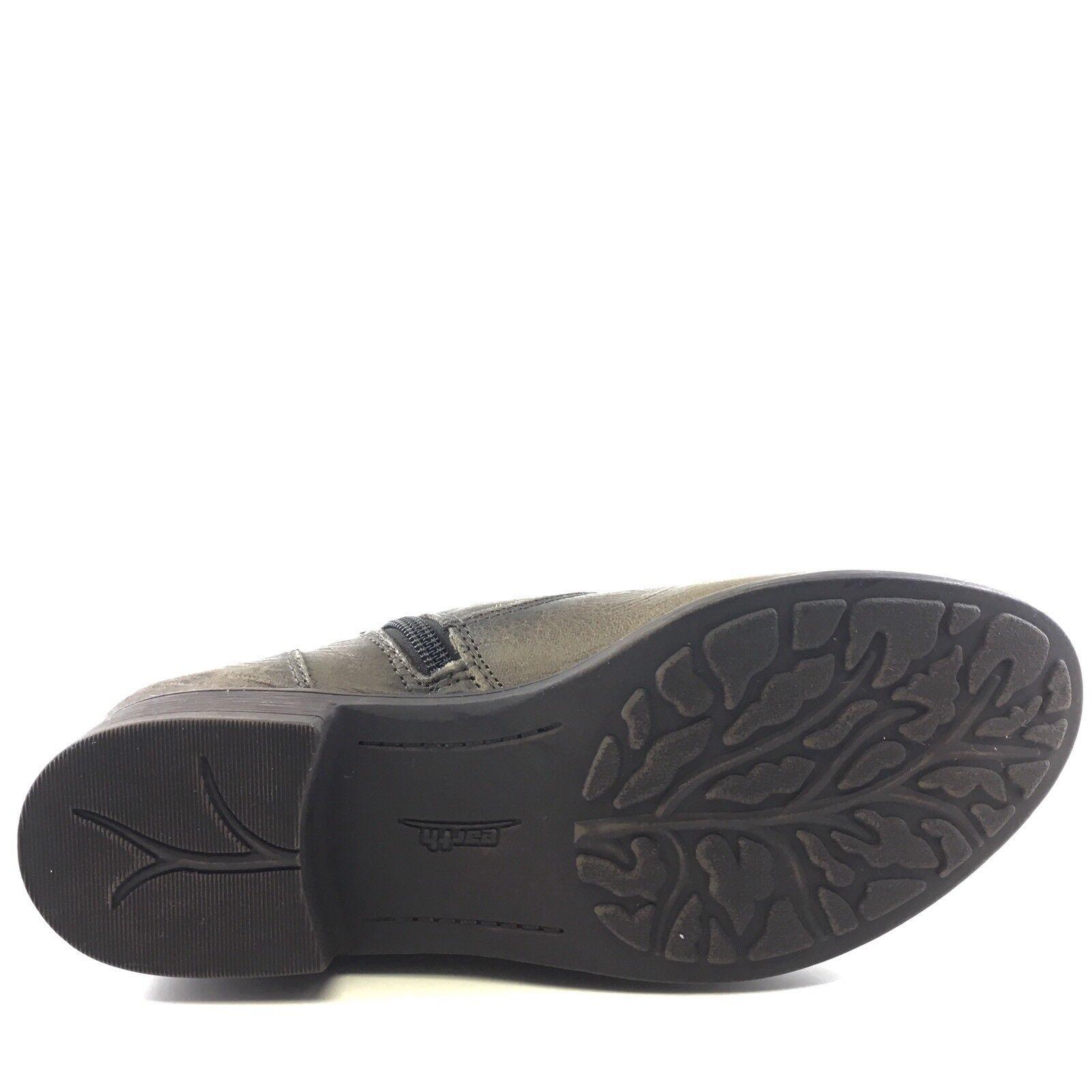 Tierra De Cuero gris gris Cuero Pardo Noruega Cremallera Tobillo botas Para Mujer Talla 6.5 M  31b829