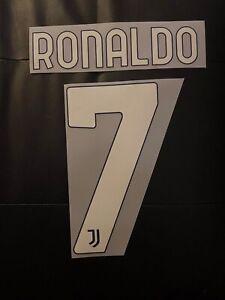 Flocage Cristiano Ronaldo #7 Juventus. Name Set. Extérieur 2020 2021.