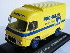 SAVIEM SG2 MICHELIN TYRES LORRY 1/43 SCALE MODEL YELLOW/BLUE EXAMPLE T3412Z(=)