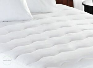 queen size mattress pad extra thick white padded bed machine washable