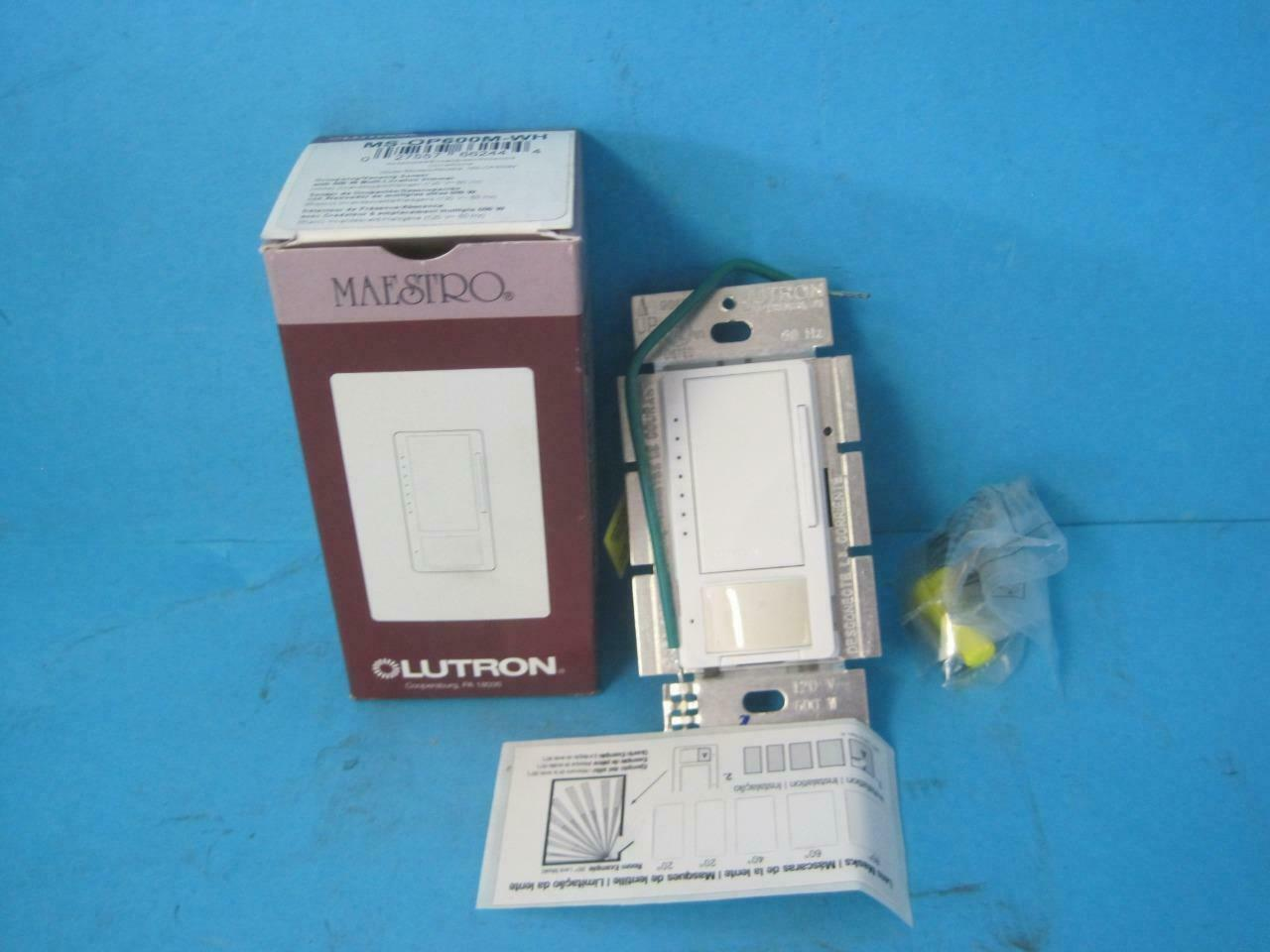 Lutron Maestro MS-OP600G-WH Occupancy Sensor WHITE Wall Dimmer Light Switch