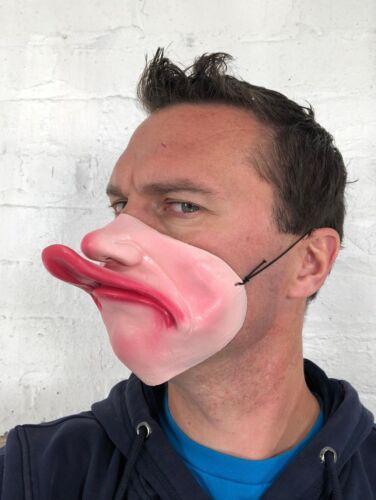 Divertente Mezzo Viso Fat Lip duck becco Maschera Lattice Costume Addio al Celibato Masquerade