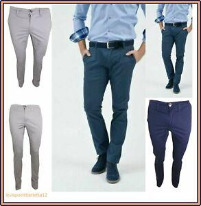 Pantaloni-uomo-slim-fit-guy-chino-elasticizzato-vita-bassa-in-cotone-estivo