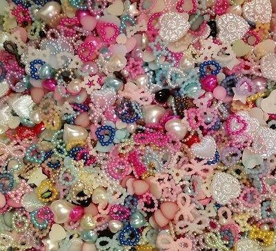 WOW! DIY embellishments! 100-120 grab bag! Cell phone cases,DIY,badge reels,deco