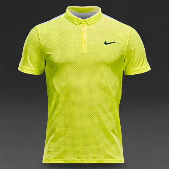 Mens Nike Advantage Breathe Tennis Polo Shirt Large Volt Yellow white  685221 for sale online  4d5722fae729