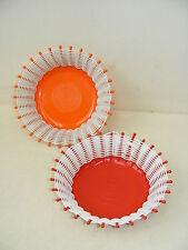 2 bella vecchio Cestino, Cestini in arancione e rosso, DDR Anni ' 70 anni