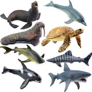 Image of: Cards Image Is Loading Oceananimalsfigureseacreaturesmodeltoysdolphin Ebay Ocean Animals Figure Sea Creatures Model Toys Dolphin Turtle Whale