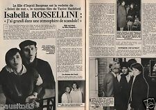 Coupure de presse Clipping 1986 Isabella Rossellini  (2 pages)