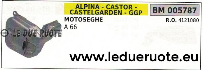 4121080 MARMITTA scarico silenziatore MOTOSEGA ALPINA CASTOR CASTELGARDEN A 66