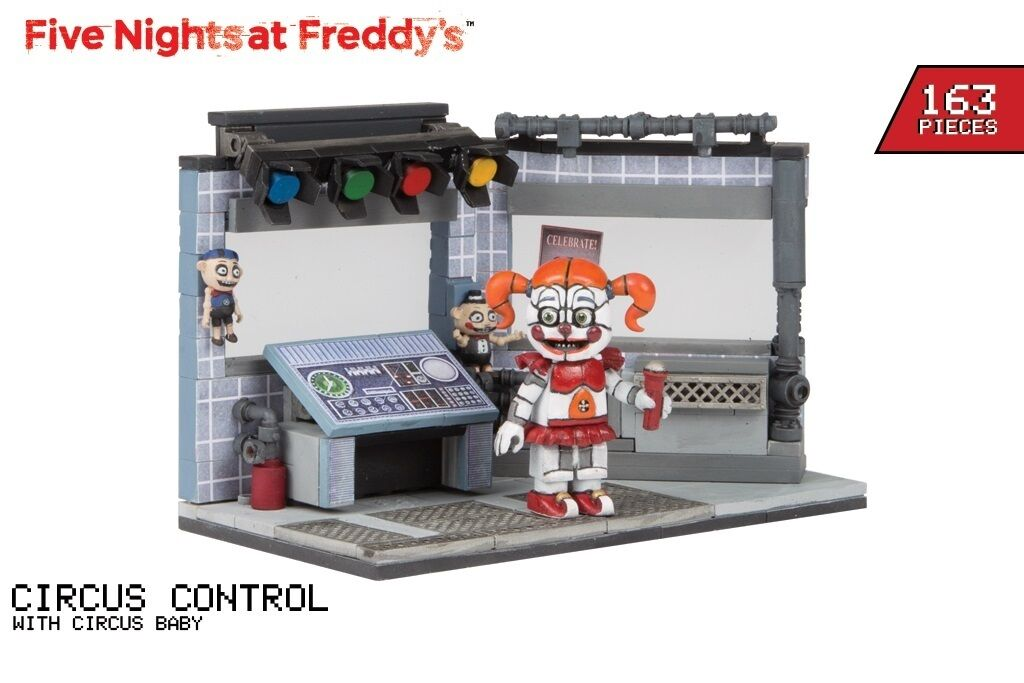 Five Nights At Freddy's CIRCUS CONTROL with Circus Baby Construction Set 163 pcs