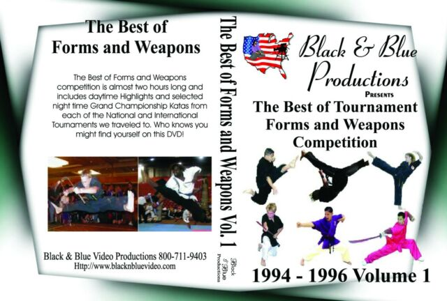 1994 thru 96 Vol.1 The Best Of Tournament Forms & Weapons DVD 2 hours long