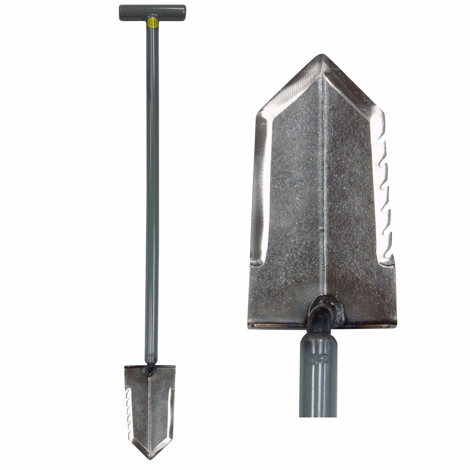 Lesche Ball Handle Heavy Duty Metal Detecting Shovel with Serrated Blade Detector Supply Company 1V/_WWMFG-31-SER