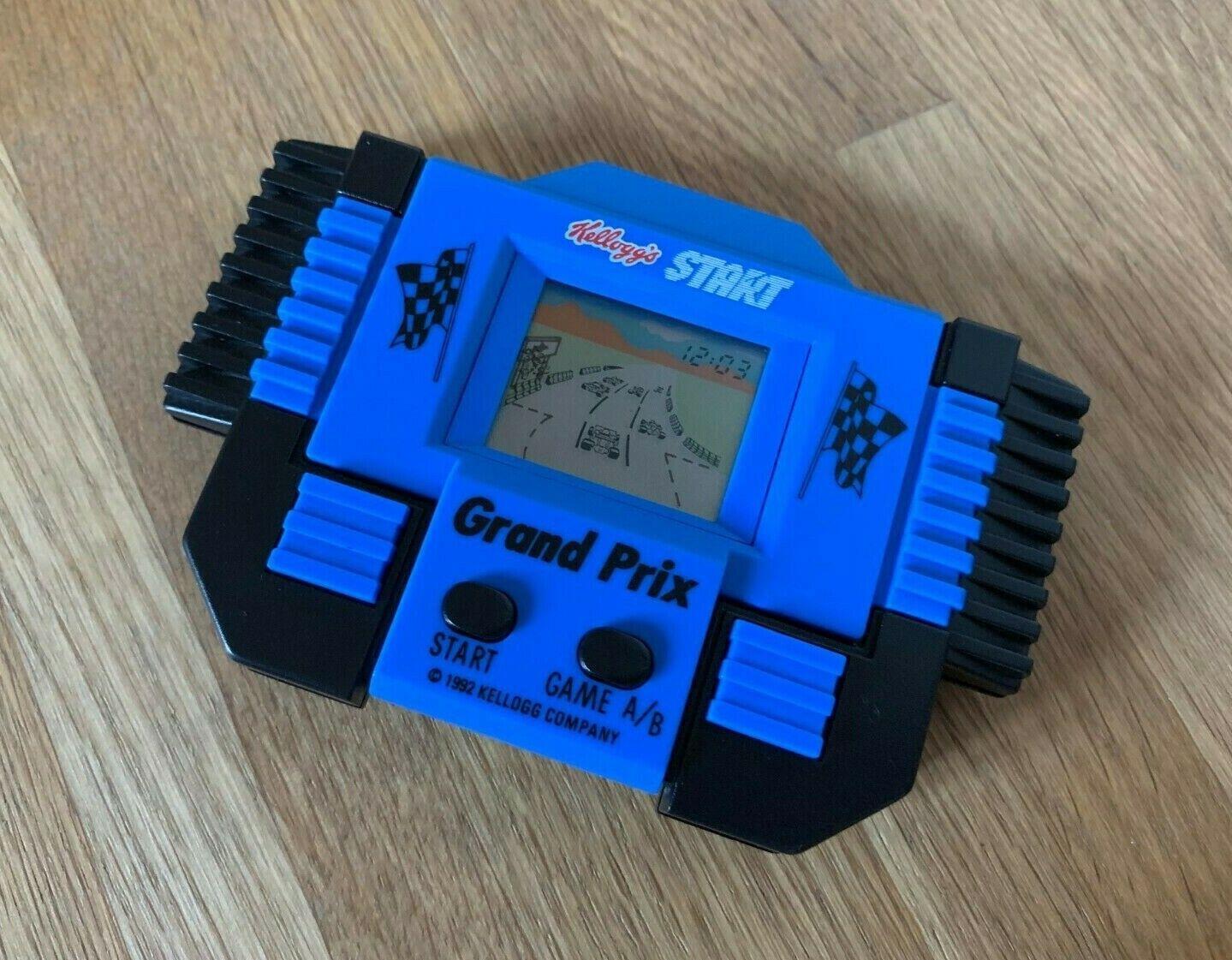 Kelloggs inicio Grand Prix Vintage 1992 LCD portátil juego electrónico en en muy buena condición.