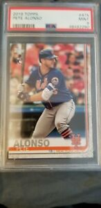 PETE ALONSO RC 2019 TOPPS SERIES 2 ROOKIE CARD #475 PSA 9 MINT METS HOT