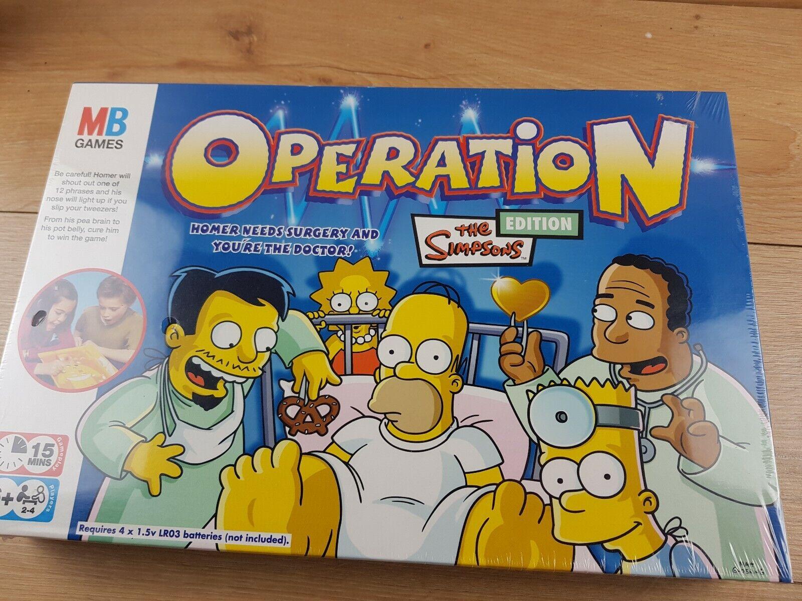 NUOVA operazione  I SIMPSON EDIZIONE 2005 da parte di MB giocoS SIGILLATO RARO     negozio di moda in vendita