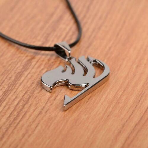 FAIRY TALE ANIME NECKLACE Cosplay Guild Symbol Logo Natsu Dragneel Pendant Cord