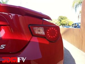 13-2016 Scion FRS REDOUT Tail light Overlays w/ Cutout