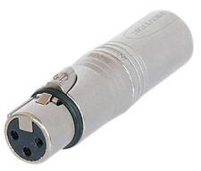 Neutrik NA3F5M 3 Pole Female XLR to 5 Pole Male XLR DMX Adaptor