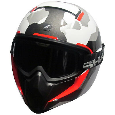 Shark Vancore Wipeout Full Face Motorcycle Bike Crash Helmet White/Grey XS