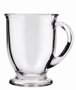 Anchor Hocking 63045a Gl 16oz Coffee Mugs Set Clear