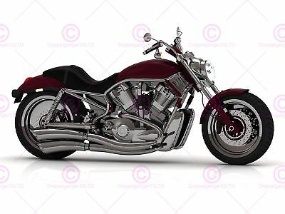 GRUNGE MOTORCYCLE BIKE RUSTIC TRANSPORT PHOTO ART PRINT POSTER PICTURE BMP1415B