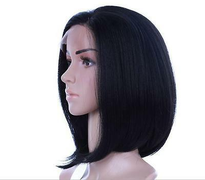 Bob Straight Heat Resistant Hair Lace Front Wig Black Wholesale Price