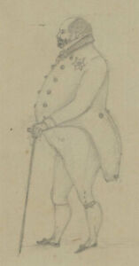 Set of Three Early 20th Century Drawings - Gentlemen Sketches