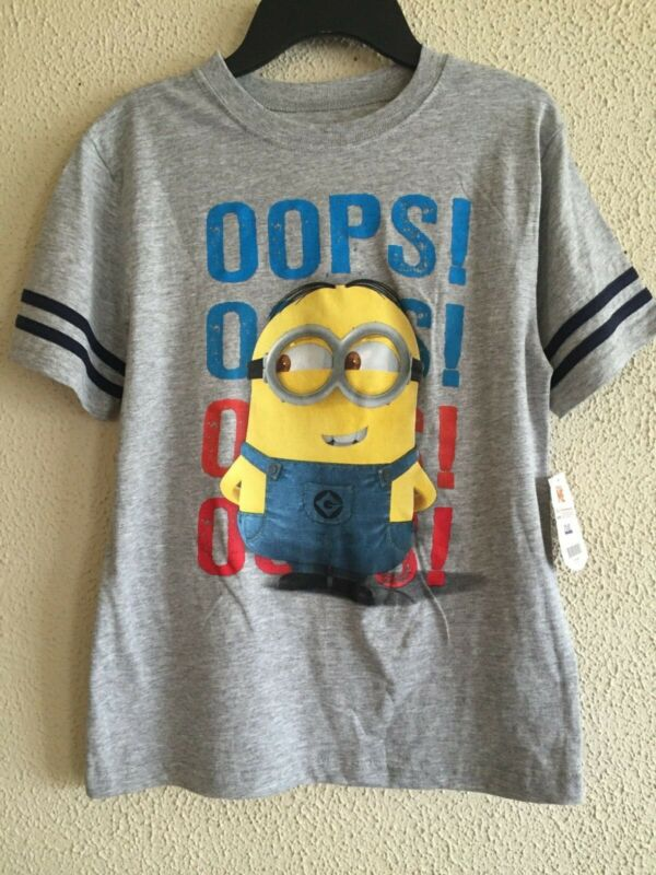 Despicable Me T-shirt Sz M New Childs Minion Oops! Nwts Very Cute Great Gift