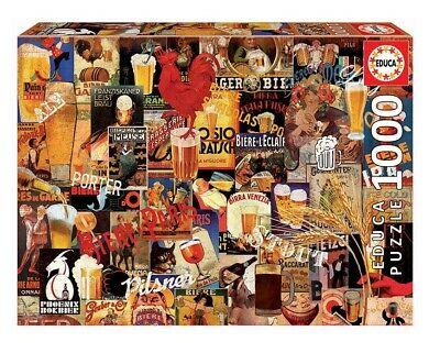 """NEW EDUCA Jigsaw Puzzle 1000 Tiles Pieces /""""New York Collage/"""""""